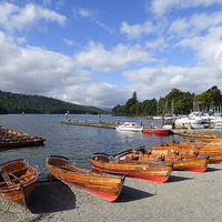 Buy canvas prints of  Lake Windermere.at Bowness.  by Lilian Marshall