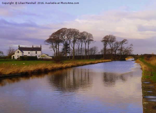 Lancaster Canal at Thurnham. Canvas print by Lilian Marshall