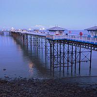 Buy canvas prints of Llandudno Pier at Dusk.  by Lilian Marshall