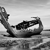 Buy canvas prints of Fleetwood decommissioned Trawler.  by Lilian Marshall