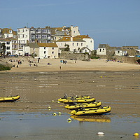 Buy canvas prints of St Ives Harbour Beach.  by Lilian Marshall