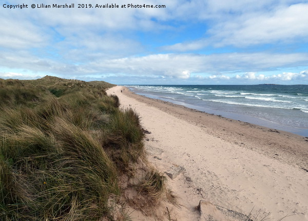 Bamburgh Beach.  Canvas print by Lilian Marshall