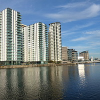 Buy canvas prints of Salford Quays.  by Lilian Marshall