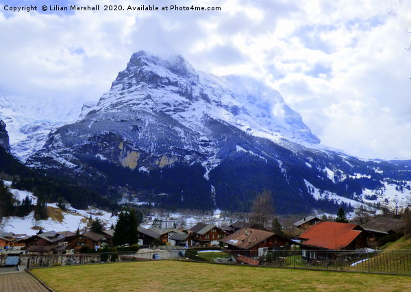 The Eiger. Switzerland.  Canvas Print by Lilian Marshall