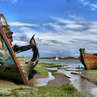 Buy canvas prints of Rotting and Rusty by Lilian Marshall