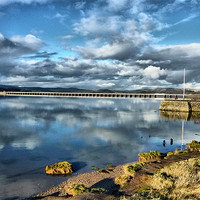 Buy canvas prints of Kent Viaduct and Arnside Pier. by Lilian Marshall