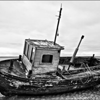 Buy canvas prints of Boat on the beach by Sandra Pledger