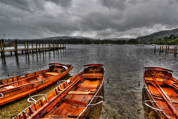 Lake Windermere Boats Canvas print by Sandra Pledger