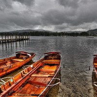 Buy canvas prints of Lake Windermere Boats by Sandra Pledger