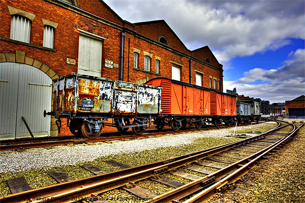 Old Wagons Liverpool Road Station Canvas print by Sandra Pledger