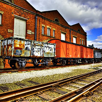 Buy canvas prints of Old Wagons Liverpool Road Station by Sandra Pledger
