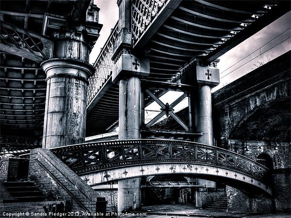 Castlefield Viaducts Canvas print by Sandra Pledger