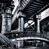 Buy canvas prints of Castlefield Viaducts by Sandra Pledger