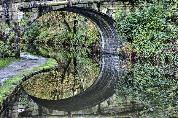 Hebden Bridge Canal Reflections Canvas print by Sandra Pledger