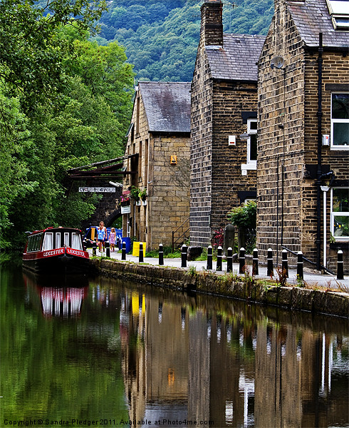 Rochdale Canal Reflections Canvas Print by Sandra Pledger