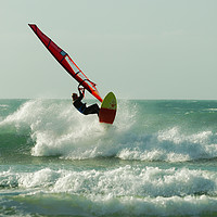 Buy canvas prints of RIDING A WAVE by andrew saxton