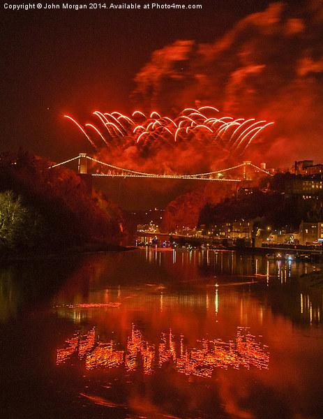 Bristols fireworks. Canvas print by John Morgan