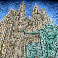Buy canvas prints of York Minster and King Constantine. by Robert Gipson