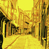 Buy canvas prints of York Shambles by Robert Gipson