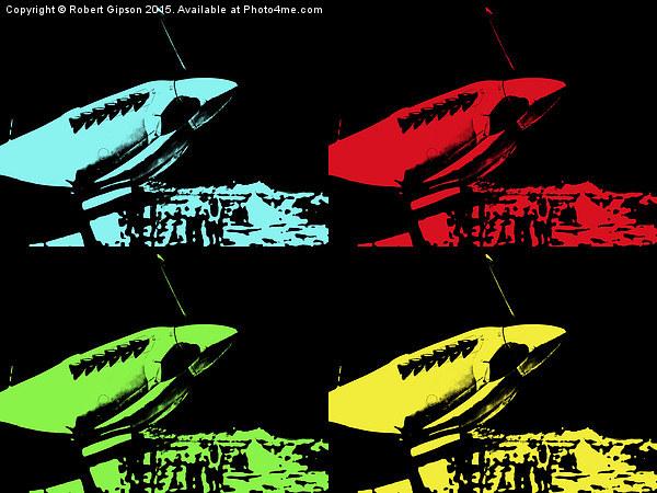 Pop Art Spitfire Canvas print by Robert Gipson