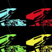 Buy canvas prints of  Pop Art Spitfire by Robert Gipson