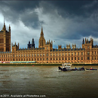 Buy canvas prints of London - Houses of Parliament by Keith Towers Canvases & Prints