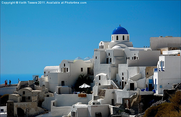 Oia, Santorini, Greece Framed Print by Keith Towers Canvases & Prints
