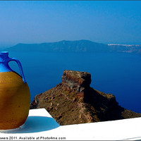 Buy canvas prints of Terracotta Jar Santorini, Canvases & Prints by Keith Towers Canvases & Prints