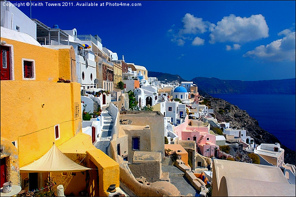 Fira, Santorini, Greece Canvases & Prints Canvas Print by Keith Towers Canvases & Prints