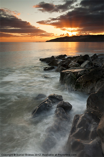 Charmouth sunset II Canvas print by Daniel Bristow