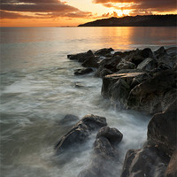 Buy canvas prints of Charmouth sunset II by Daniel Bristow