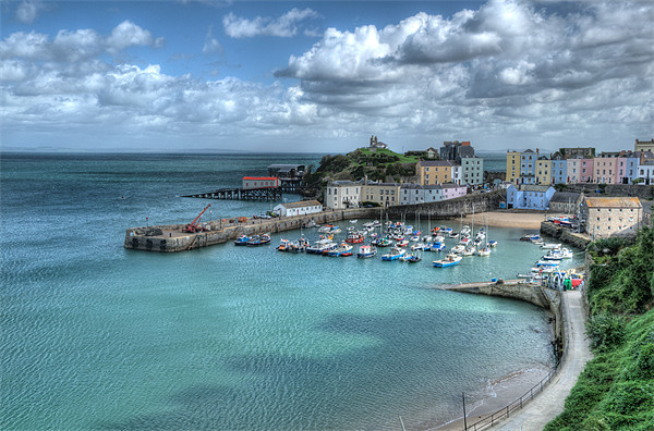 Tenby Harbour Canvas print by Steve Purnell