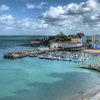 Buy canvas prints of Tenby Harbour by Steve Purnell