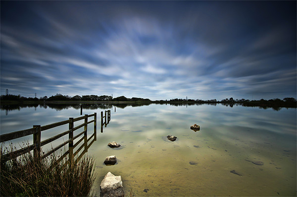 Lake Long Exposure Canvas print by Steve Purnell