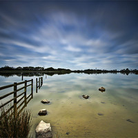 Buy canvas prints of Lake Long Exposure by Steve Purnell