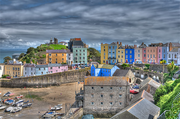 Tenby Harbour 3 Canvas print by Steve Purnell