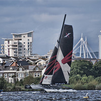 Buy canvas prints of Extreme 40 Team Wales by Steve Purnell