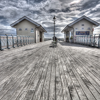 Buy canvas prints of Penarth Pier Painterly by Steve Purnell