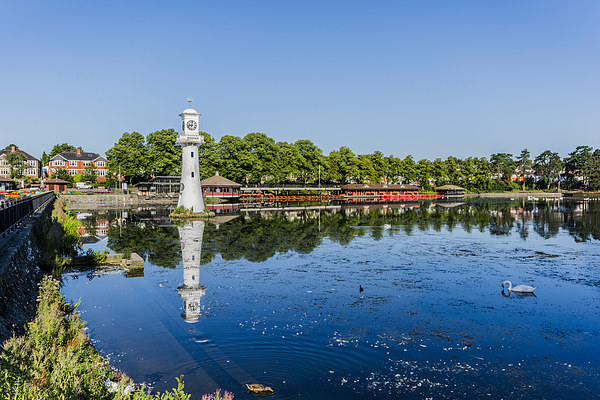 Roath Park Lake 4 Canvas Print by Steve Purnell