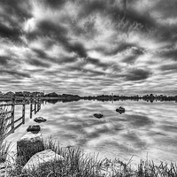 Buy canvas prints of Penyfan Pond 2 Mono by Steve Purnell