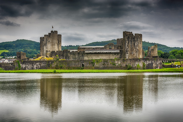 Caerphilly Castle North View 2 Canvas print by Steve Purnell
