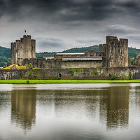 Buy canvas prints of Caerphilly Castle North View 2 by Steve Purnell