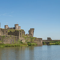 Buy canvas prints of Caerphilly Castle Panorama South View by Steve Purnell