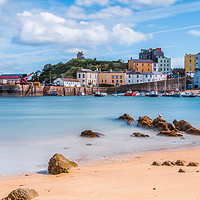 Buy canvas prints of Tenby Harbour Long Exposure 2 by Steve Purnell