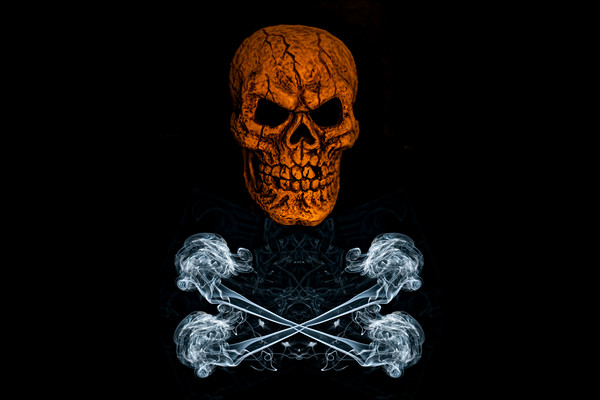 Skull And Crossbones 1 Framed Print by Steve Purnell