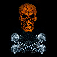 Buy canvas prints of Skull And Crossbones 1 by Steve Purnell