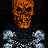Buy canvas prints of Skull And Crossbones 2 by Steve Purnell