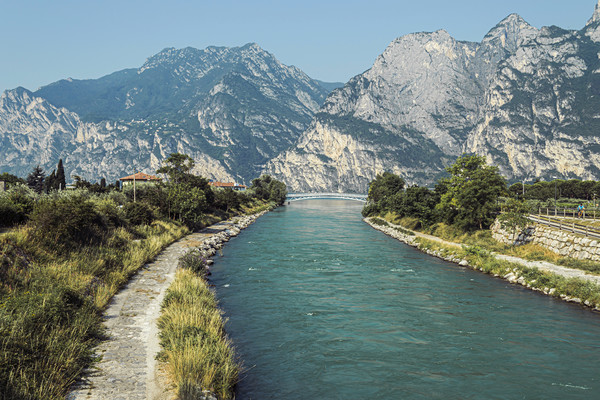 River Sarca Canvas print by Steve Purnell