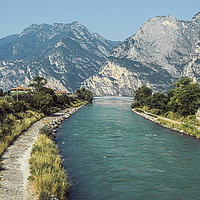 Buy canvas prints of River Sarca by Steve Purnell