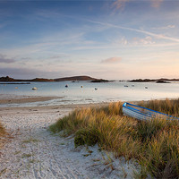 Buy canvas prints of Sunrise on Porth Green by Andrew Wheatley